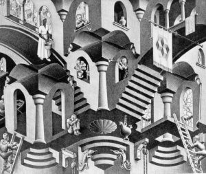 Escher. Dominio del tiempo literario. Libros Prohibidos