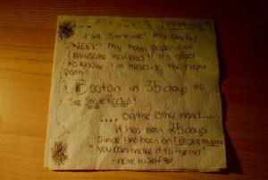 Notas para Emma. Servilleta. Libros Prohibidos