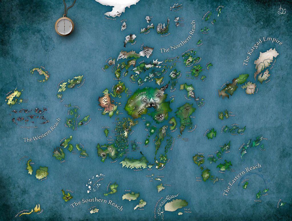 Un mago de Terramar. Mapa. Libros Prohibidos