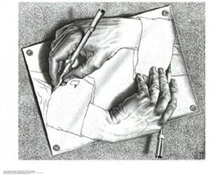 Escher. circulo. Libros Prohibidos
